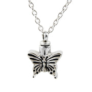 Butterfly Cremation Necklace - Stainless Steel