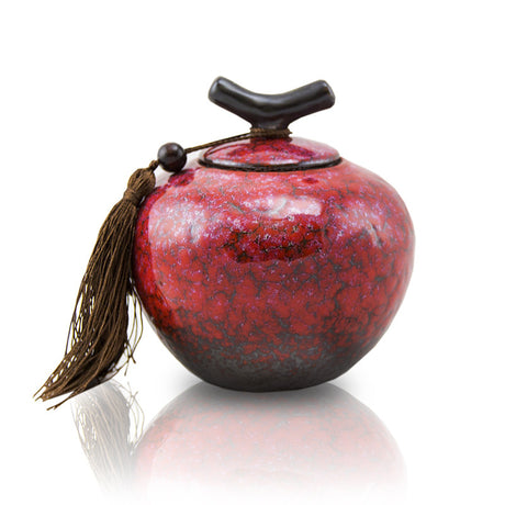 Sakura Pink Ceramic Pet Cremation Urn - Medium