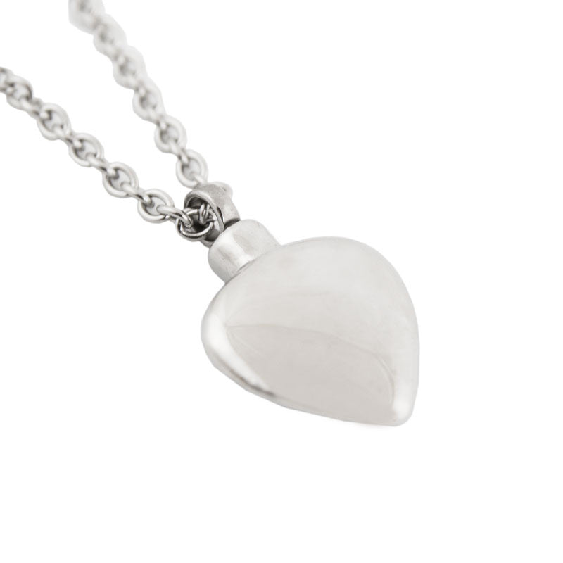 Heart Cremation Pendant - Stainless Steel