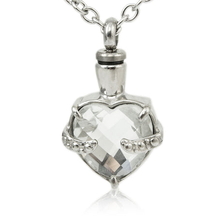 Halcyon Clarity Heart Cremation Necklace