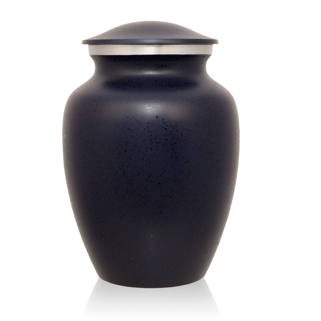 Two-Tone Dark Blue Classic Cremation Urn - Medium