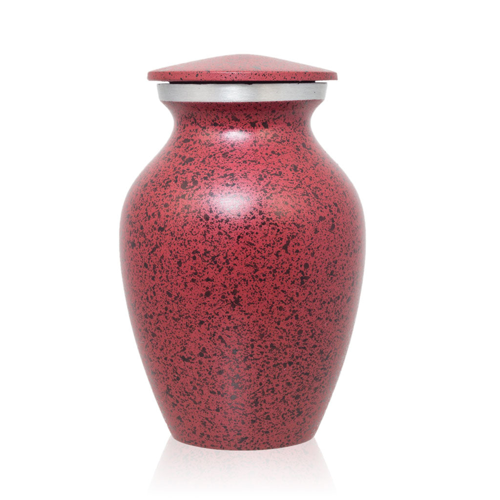 Two-Tone Red Classic Cremation Urn - Keepsake
