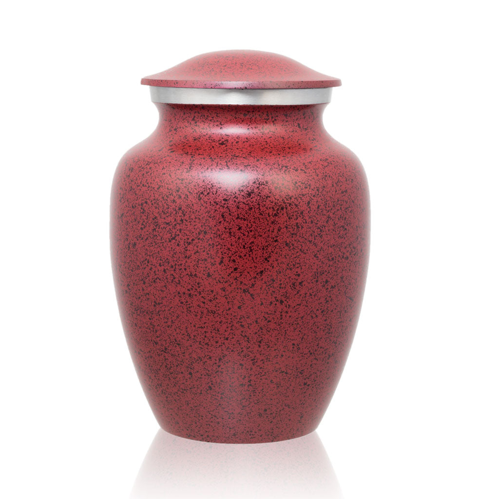Two-Tone Red Classic Cremation Urn - Medium