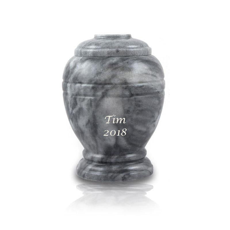 Cloud Gray Marble Pet Cremation Urn - Extra Small