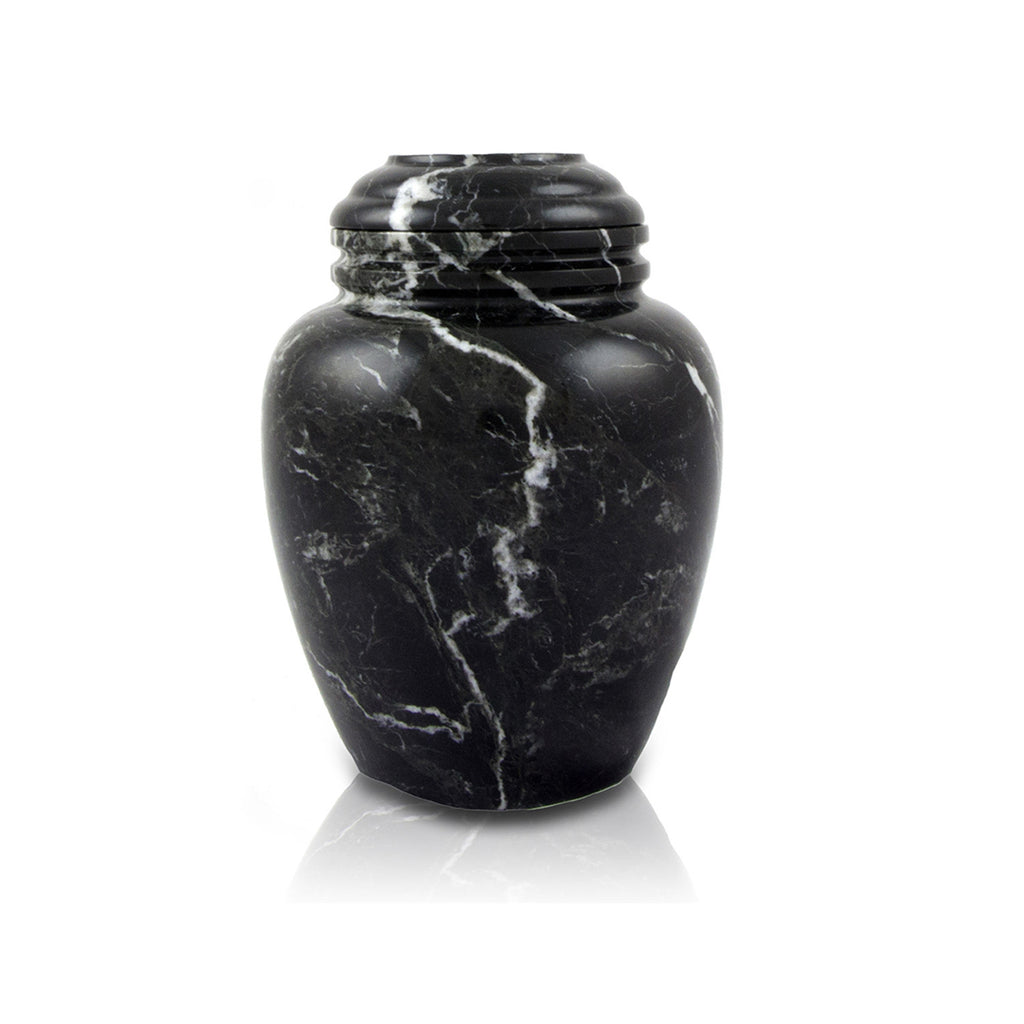 Noire Marble Cremation Urn- Extra Small