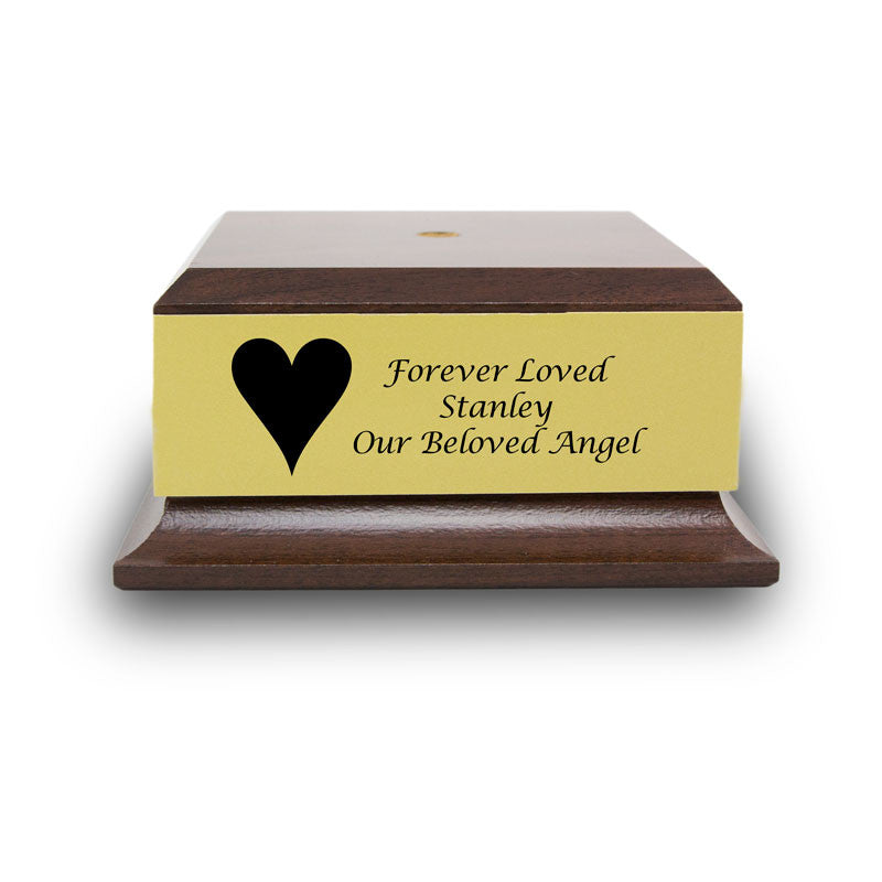Cherry Wood Base with Engravable Gold Plaque