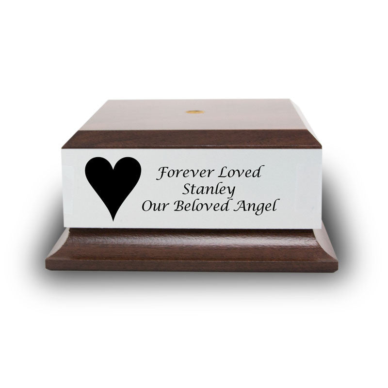 Cherry Wood Base with Engravable Silver Plaque