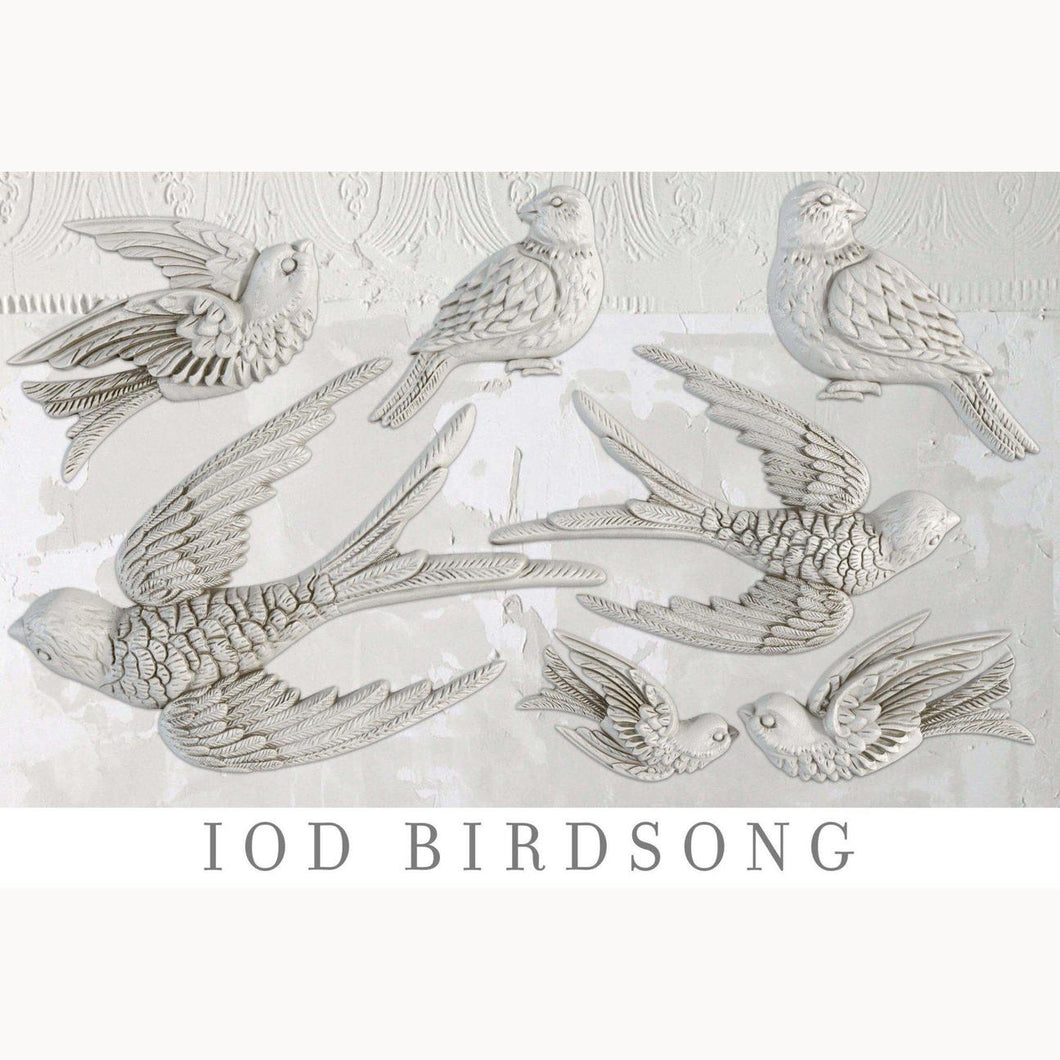 IOD BIRDSONG 6×10 DECOR MOULDS™ Iron Orchid Design