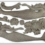 IOD SEA SISTERS DECOR MOULDS (6X10) Iron Orchid Design