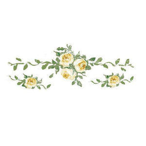 "DRESSER-UP TRANSFERS -YELLOW Roses SM  13"" x 4.5"""