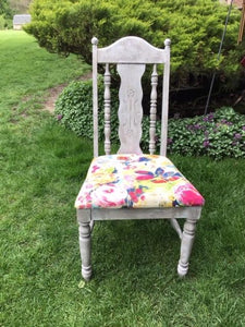 Beautiful up cycled Broyhill chair, circa 1970?, floral, photo prop, upholstered
