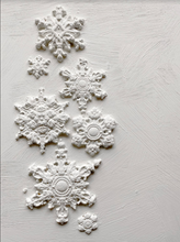 IOD Snowflake Mould 6X10 Iron Orchid Design