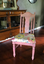 1970's Broyhill chair, coral, photography prop, floral, shine