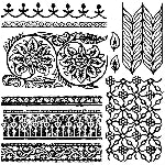 IOD BOHEMIA DECOR STAMPS (12X12) Iron Orchid Design