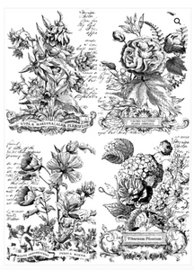 CLASSIC BOUQUETS PAINTABLE DECOR TRANSFER (24X33)