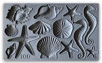 IOD Seashell Décor Mould 6X10 Iron Orchid Design