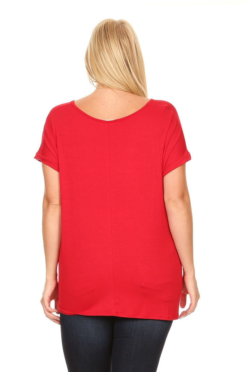 Knotty Red Tee-Plus
