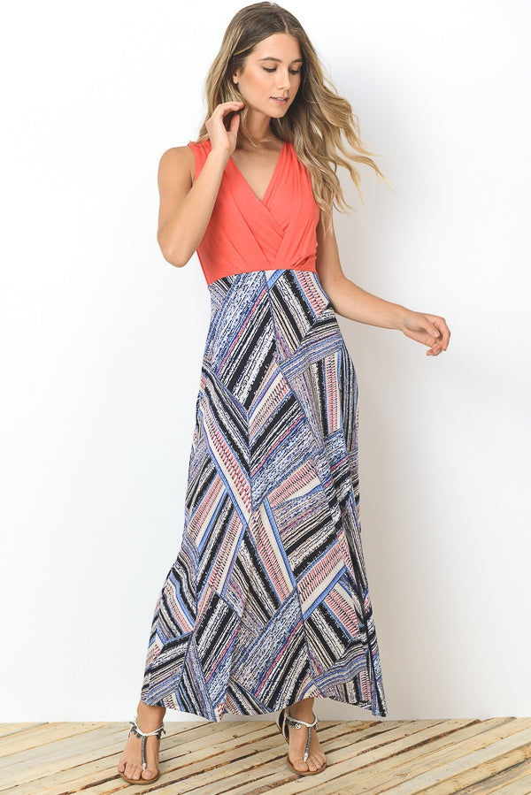 Cross Neck Maxi Dress