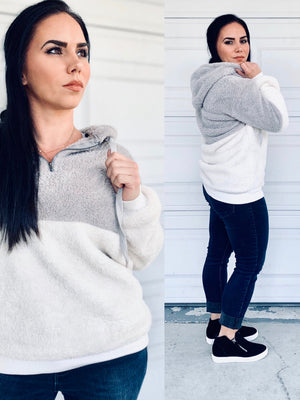 Two-Toned Teddy Sweater