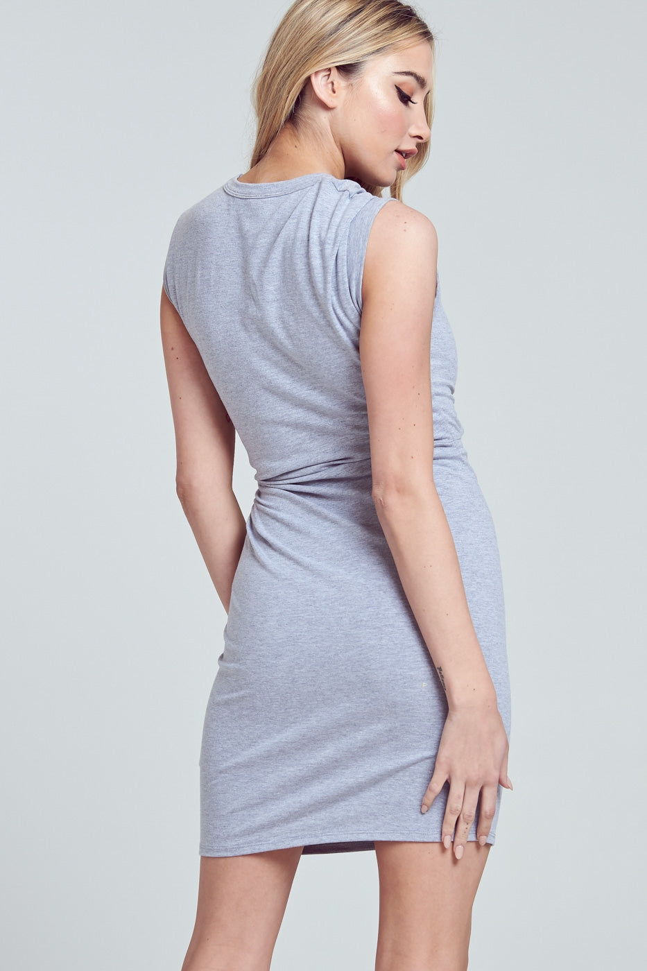 Twisted-Cutout Midi Dress