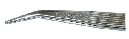 Angled Tip Stainless Steel Tweezers