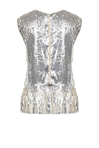 Full Sequin Top with Fringe