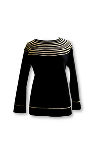 Sweater with Metallic Detailing