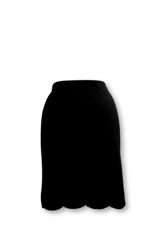 Black Scalloped Skirt