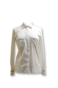 White Blouse with Embellished Pockets