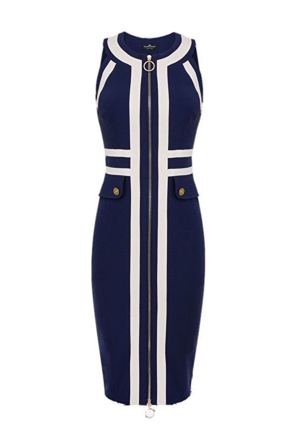 Navy Pencil Dress