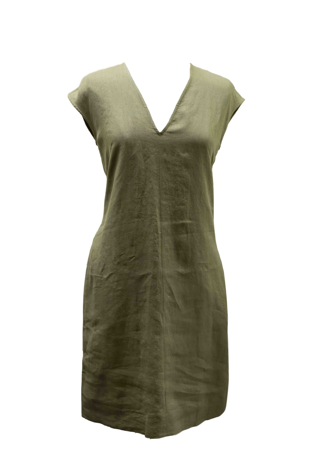 Olive Green Sleeveless Dress