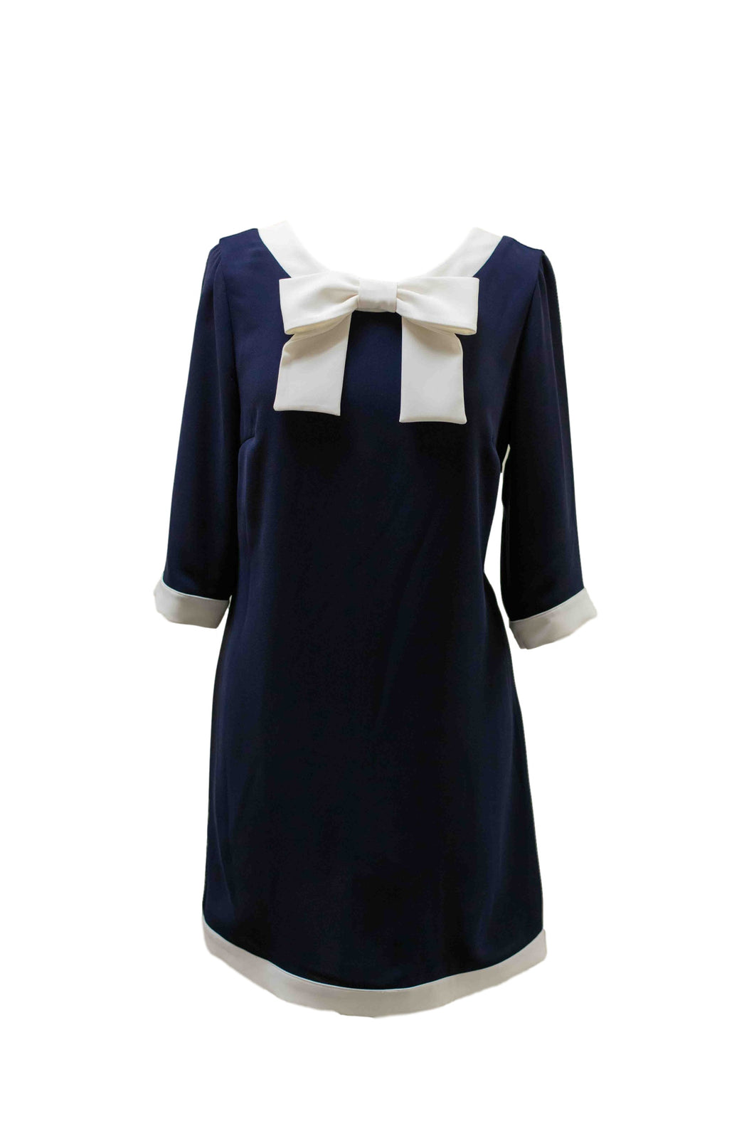 Navy Dress with Bow Detailing