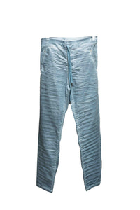 Metallic Sheen Blue Pants