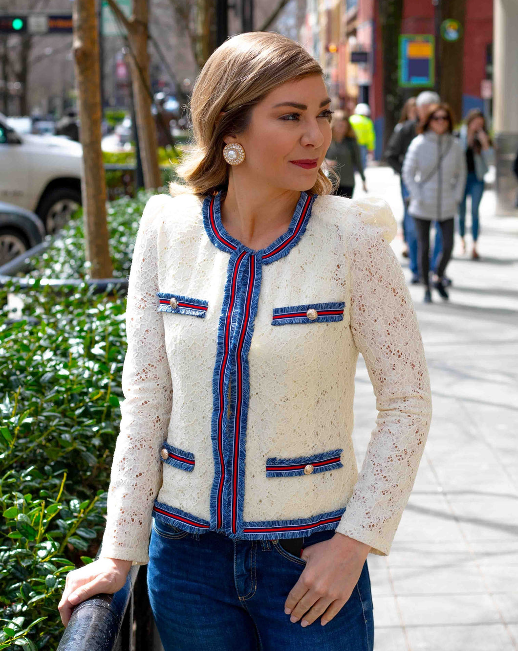 Structured Lace Jacket