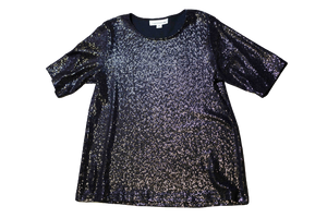 Sequin Short Sleeve Blouse