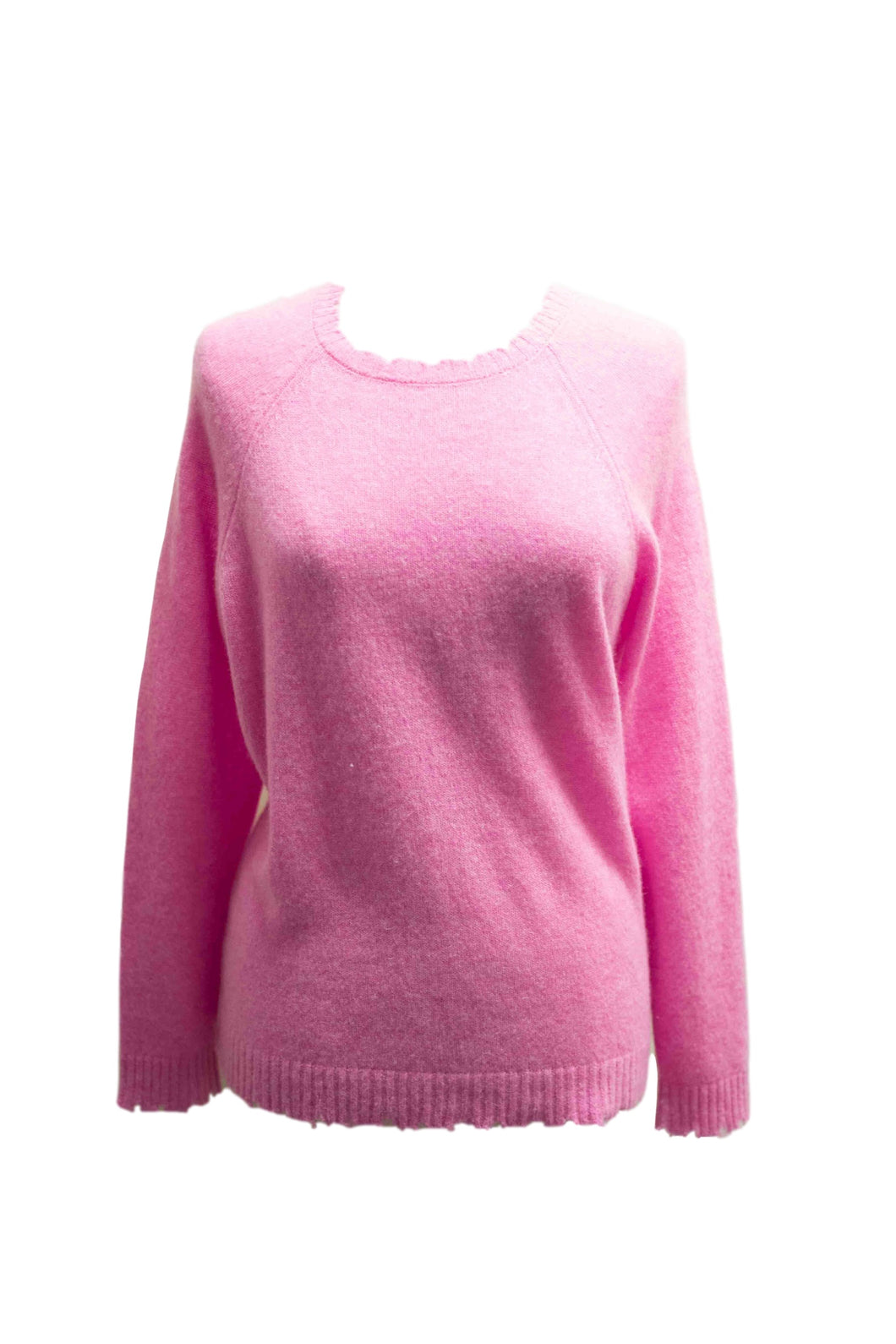 Pink Cashmere Crew Neck Sweater