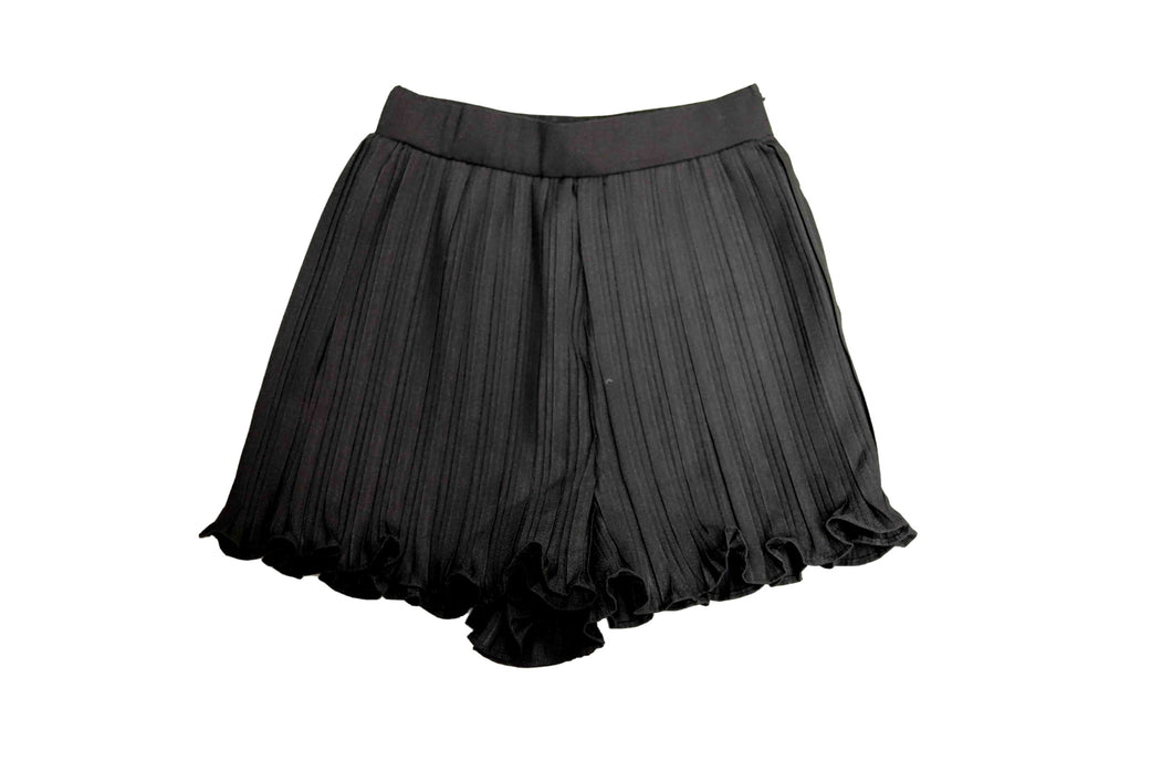Pleated Black Shorts