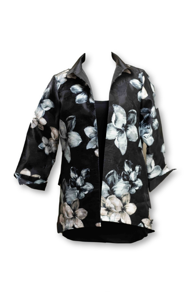 Floral Open-Faced Jacket