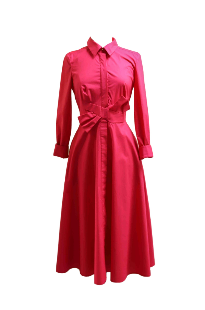Pink Tea-Length Dress
