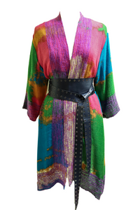 Multi-color Wool Gauze Duster