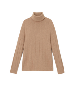 Cashmere Mixed Rib Sweater