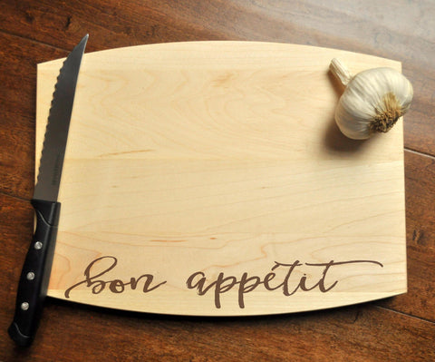 Bon Appétit Cutting Board - Engraved Cutting Board, Personalized Cutting Board, Wedding Gift, Housewarming Gift, Bon Appetit-Circle City Design Co.