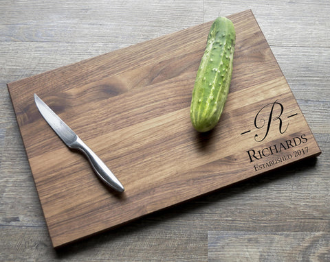 Custom Cutting Board - Engraved Cutting Board, Personalized Cutting Board, Wedding Gift, Housewarming Gift, Anniversary Gift, Christmas Gift-Circle City Design Co.