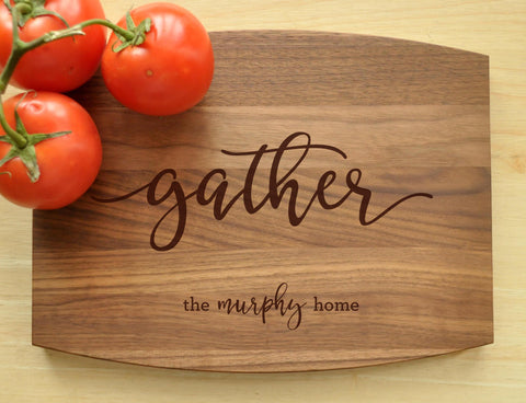 Custom Cutting Board - Engraved Cutting Board, Personalized Cutting Board, Wedding Gift, Housewarming Gift, Gather Cutting Board, Gather-Circle City Design Co.