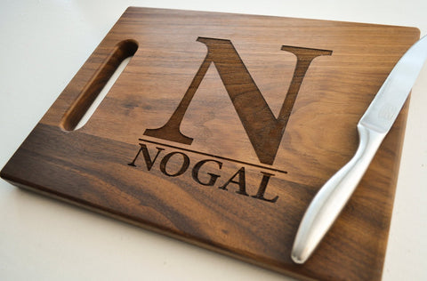Custom Cutting Board, Personalized Cutting Board, Engraved, Personalized Wedding Gift, Housewarming Gift, Anniversary Gift, Christmas Gift-Circle City Design Co.