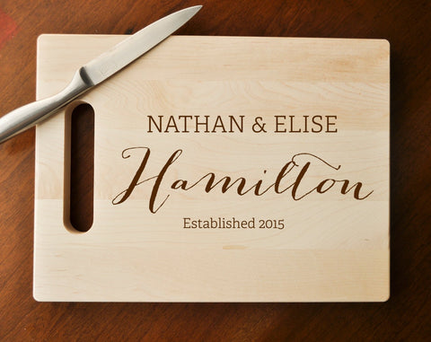 Custom Engraved Cutting Board, Personalized Cutting Board, Custom Personalized Wedding Gift, Housewarming Gift, Anniversary Gift, Custom-Circle City Design Co.