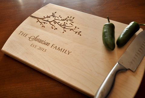 Custom Engraved Cutting Board - Personalized Cutting Board, Cutting Board, Wedding Gift, Housewarming Gift, Anniversary Gift, Christmas Gift-Circle City Design Co.