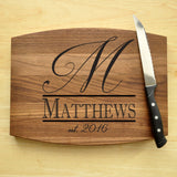 Cutting Board Personalized, Engraved, Custom Cutting Board, Personalized Wedding Gift, Housewarming Gift, Anniversary Gift, Monogram-Circle City Design Co.