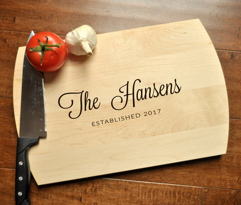 Cutting Board Personalized - Engraved Cutting Board, Custom Cutting Board, Wedding Gift, Housewarming Gift, Anniversary Gift, Christmas Gift-Circle City Design Co.