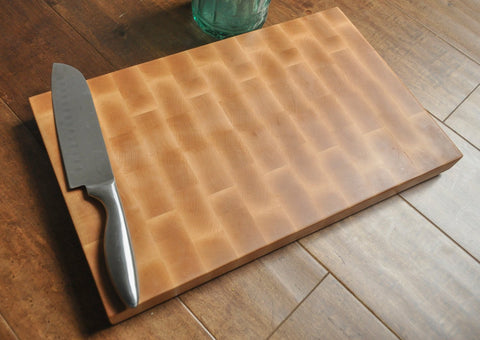 End Grain Cutting Board, Premium Maple, Chopping Block, Butcher Block, Hardwood, Wedding Gift, Housewarming Gift, Large Cutting Board-Circle City Design Co.